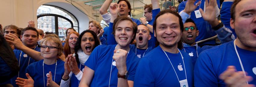 Reportage opening Apple Store Amsterdam door Kees Krick Media