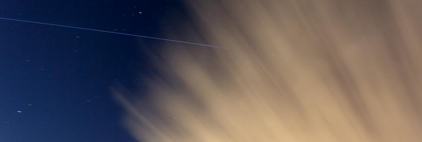Nachtopname ISS met astronaut André Kuijpers aan boord door Kees Krick Media