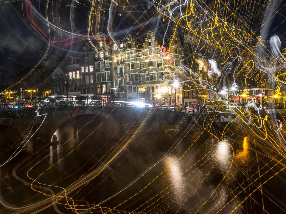 Beweging tijdens nachtfoto.
