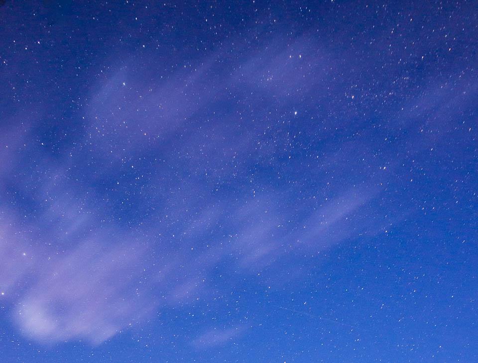 Nachtfoto sterrenhemel.