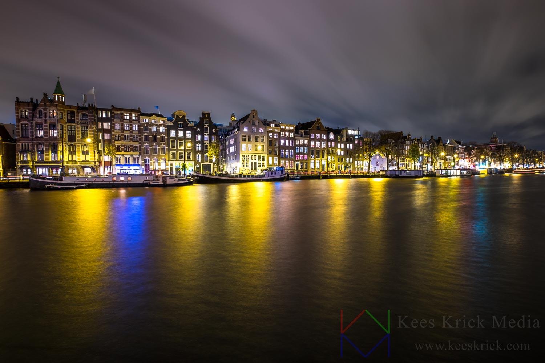 Amsterdam Amstel tijdens een storm.