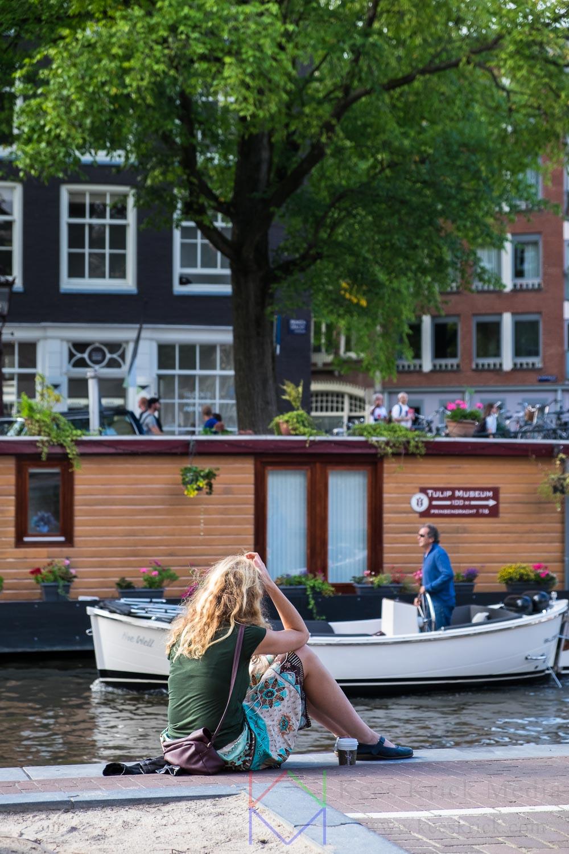 Amsterdam-Westerkerk-Anne-Frank-Huis-Woonboot-Museum