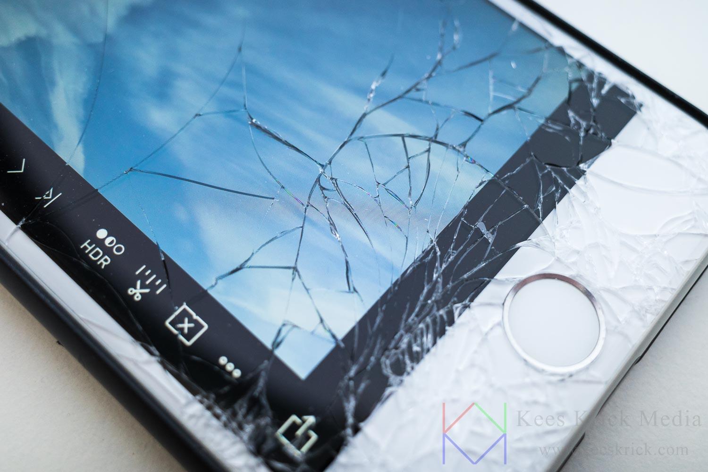 Zo valt dus het scherm van je smartphone kapot