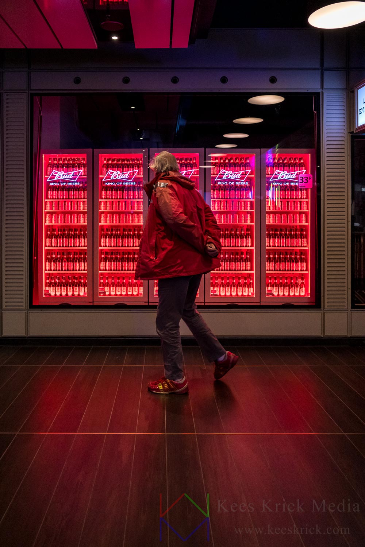 Amsterdam Centraal Station Amstelpassage Bud Bier Rood