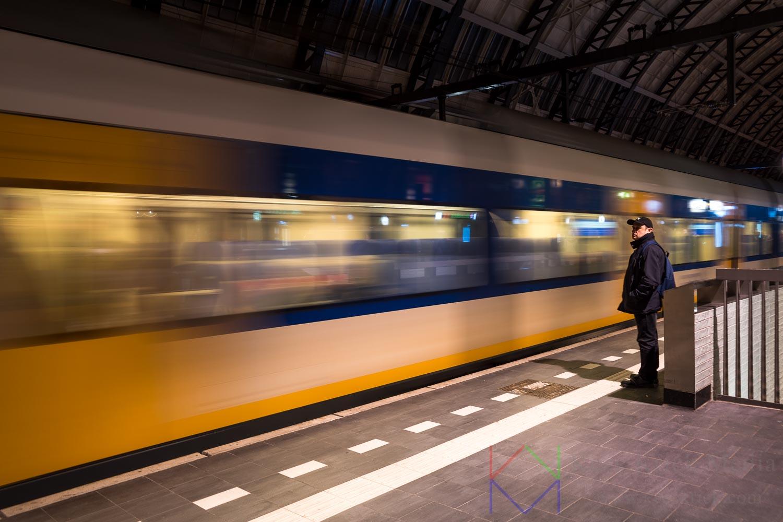 Amsterdam Centraal Station Trein Reiziger