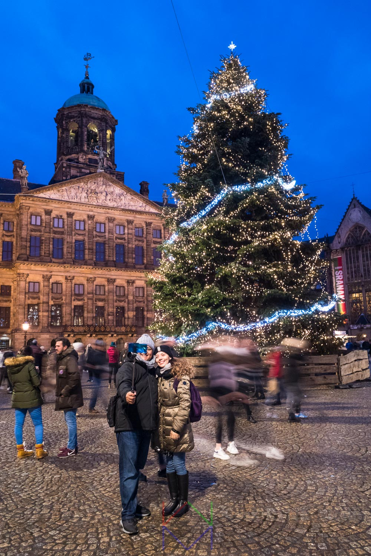 Amsterdam Dam Kerstboom