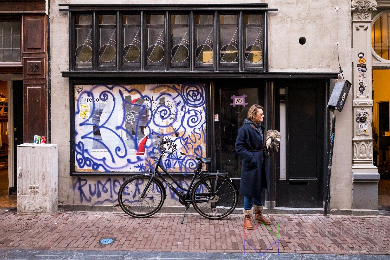 Amsterdam Graffiti Man Fiets