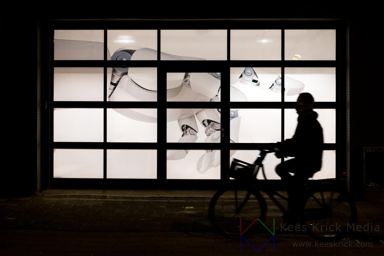 Amsterdam - Robot en de Fietser